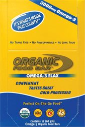 Organic Food Bar - Omega 3 Flax - Box - 12 - Bar
