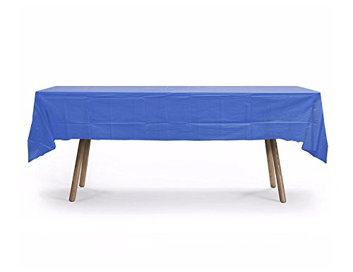 GiftExpressions 10-Pack  Premium 54 Inch. x 108 Inch. Disposal Rectangle Plastic Table Cover- Outdoor, Indoor Party, Picnic, Events, School Ceremony (Royal Blue) -