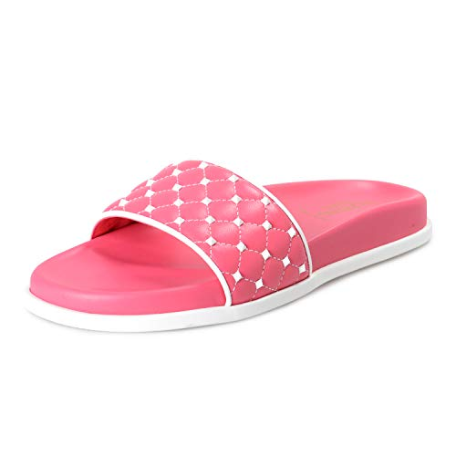 Used, VALENTINO Women's Pink Leather Rockstud Flip Flops for sale  Delivered anywhere in USA