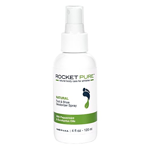 Natural Mint Shoe Deodorizer, Foot Deodorant Spray. Fights Odor, Stink Caused by Bacteria. Spray Freshens Better Than Messy Powders, Antiperspirants, Insoles, Sneaker Balls. Use on Feet or Shoes. Spray Balls