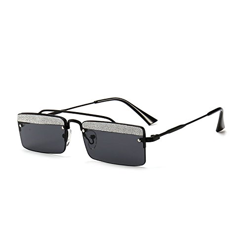 De De Modelos Sol De I Gafas De Sol Gafas Metal Pequeña GRAMO Brillantes Cejas Gafas Mujer De De Sol Caja Calle De JUNHONGZHANG Gafas S8Rw0Wq