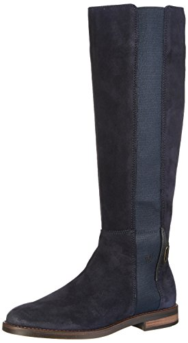 O'Polo Boot Navy Flat Heel Bleu Bottines Long 70814228001304 Marc Femme 7qIABdwq