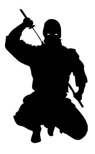 Amazon.com: Newclew Ninja Japan Black or White Sticker Decal ...