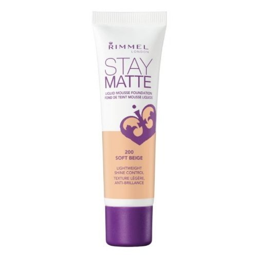 (3 Pack) RIMMEL LONDON Stay Matte Liquid Mousse Foundation - Soft Beige