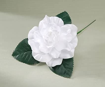 Amazon artificial silk white gardenia floral picks package of artificial silk white gardenia floral picks package of 12 mightylinksfo