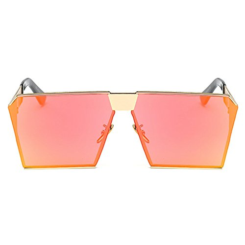 Square Lens Mirrored Reflective 4 MEIHAOWEI Oversized soleil Color Polarisées Lunettes de dx4wnUqn