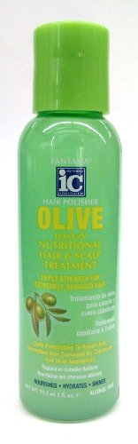 Ic Olive (Fantasia IC Olive Leave-In Nutritional Hair & Scalp Treatment Hair Polish 2 oz.)