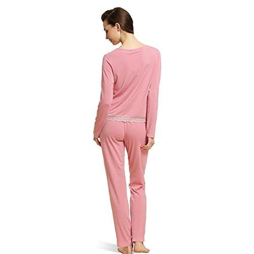 CHUNHUA La nueva manga larga grandes yardas Sra modal pijama chándal | (cuatro colores opcionales) , b , xl (165/88a) d