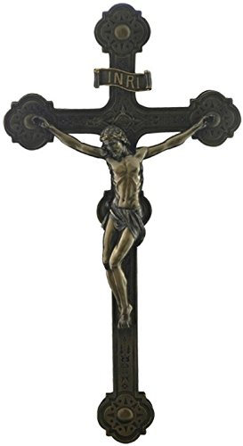 (20.5 Inch Cathedral Crucifix Decorative Wall Plaque, Bronze Color)
