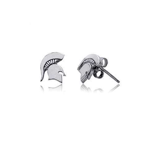 Michigan State Spartans Earrings - Michigan State University Spartans MSU Sterling Silver Jewelry by Dayna Designs (Stud Earrings)