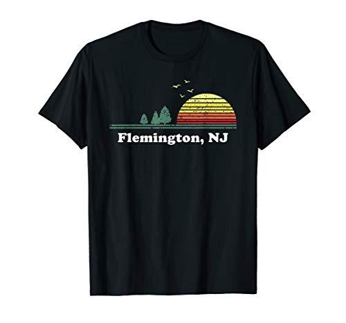 Vintage Flemington, New Jersey Home Souvenir Print T-Shirt (Shops Flemington)
