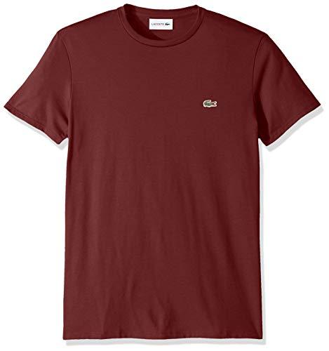 Lacoste Men's S/S PIMA Crewneck T-Shirt, Pinot, Medium