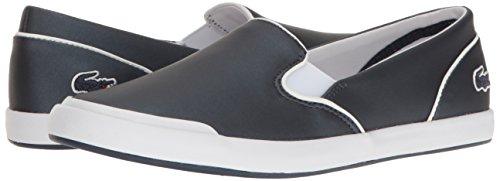 Lacoste Women's Lancelle Slip on 117 2 Fashion Sneaker, Navy, 9.5 M US