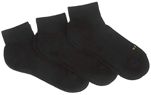 Womens Hue Air - HUE Women's Air Cushion Quarter Top Sport Socks, 3 Pair Pack, Black, One-Size