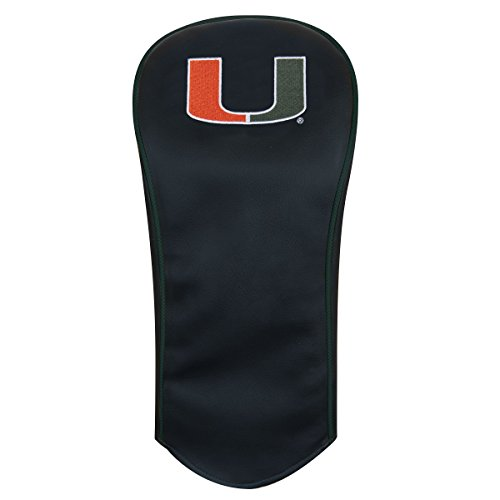 Miami Hurricanes Driver Headcover (Team Effort Miami Hurricanes black Driver Headcover)