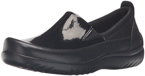 Klogs USA Women's Ashbury Boat Shoe, Black Patent, 8.5 M US