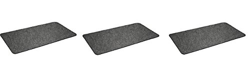 "Premium Grill Mat by Montana Grilling Gear for Gas or Electric Grill – Use this Absorbent Grill Pad Floor Mat to Protect Decks and Patios from Grease Splatter and Other Messes – 30"" X 48"" (3-Pack)"
