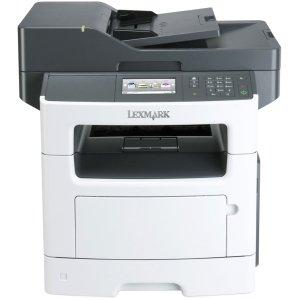 Lexmark MX511DHE Laser Multifunction Printer - Monochrome - Plain Paper Print - Desktop - Copier/Fax/Printer/Scanner - 45 ppm Mono Print - 1200 x 1200 dpi Print - 42 cpm Mono Copy - Touchscreen - 1200 dpi Optical Scan - Automatic Duplex Print - 350 sheets by Generic