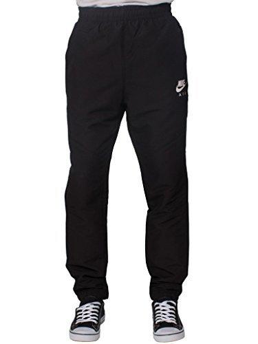 Pantalones deportivos Nike Air tejido y ajuste estrecho para hombres, color negro, atlético, hombre, color negro, tamaño large: Amazon.es: Ropa y accesorios