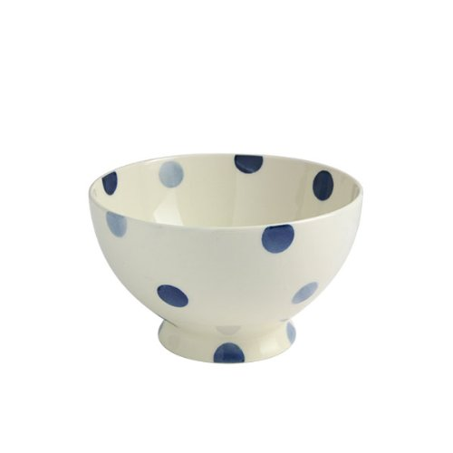 Fairmont and Main High fired Earthenware Footed Bowls, Set of 4, Cream with Blue Spots Fairmont and Main Ltd BS64X4