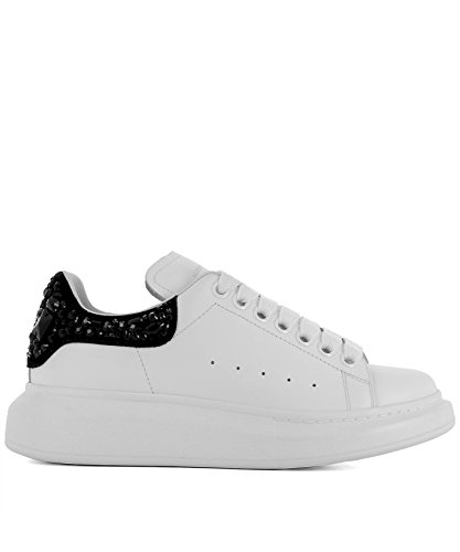 Alexander McQueen Women's 508288Whqyd9034 White Leather Sneakers