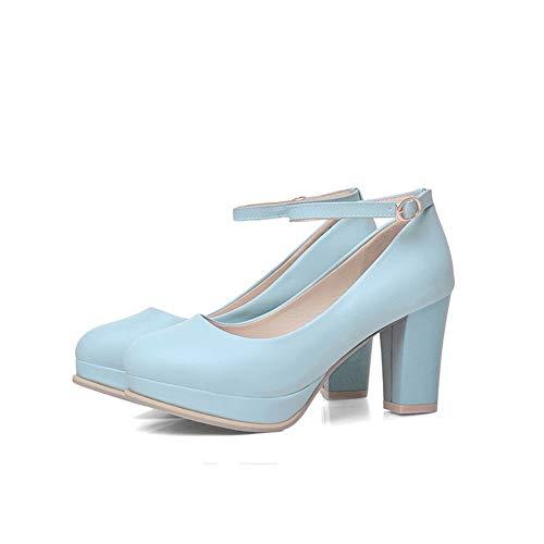 Bleu AdeeSu 36 Femme 5 SDC05648 Bleu Plateforme pxwIz1
