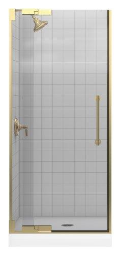 Kohler K-705700-L-ABV Purist Heavy Glass Pivot Shower Door, 30 1/4