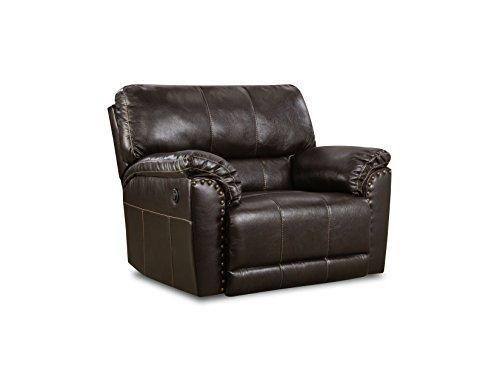 Simmons Upholstery 50961BR-195 Abilene Chestnut Abilene Cuddler Recliner Chestnut