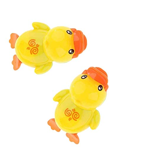 2 Pieces Wind Up Swimming Duck Bath Toy fit for Kids Baby Bathing Time Random - Wind Up Duck
