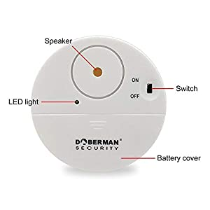 WOWSEA DOBERMAN SECURITY Ultra-Slim Window Alarm – Loud 100dB Alarm and Vibration Sensors – Modern & Ultra-Thin Design,12-Packs