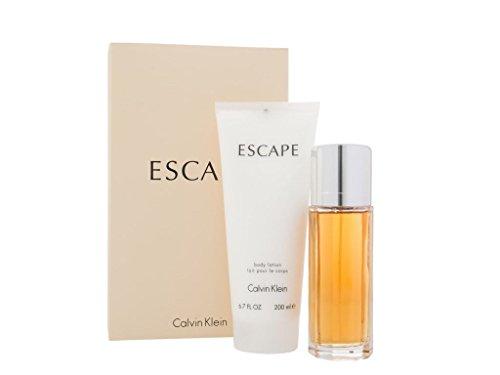 Calvĭn Kleĭn Escapė for Women 2 Piece GIFT SET Includes: 3.4 fl. oz Eau De Parfum Spray + 6.7 oz Body (Calvin Klein Escape)