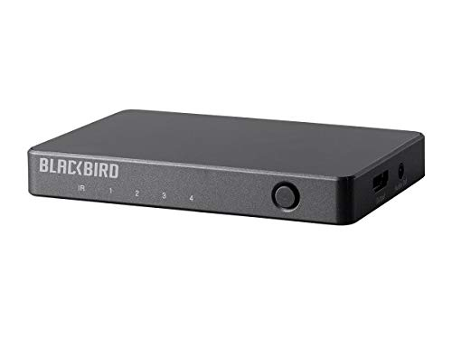 Monoprice Blackbird 4K 4x1 HDMI Switch with Audio Extractor - Black | HDR, 18Gbps Refresh Speeds, YUV 4:4:4
