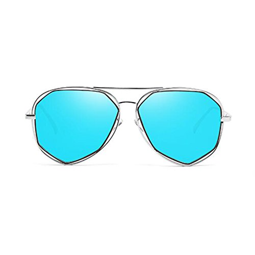 4 Color Anti de QZ Espejo de HOME Gafas Movimiento Metal UV400 2 polarizada Redonda Decorativo Playa Sol Luz Ultraligero Cara pZTHw