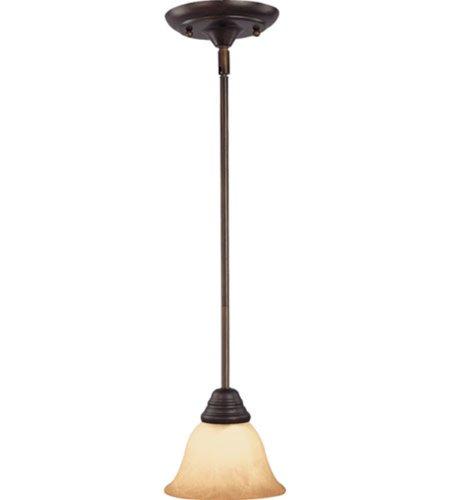 Maxim Lighting 85139WSOI Basix ES Light 12-1/4-Inch Energy Star Mini Pendant, Oil Rubbed Bronze Finish with Wilshire Glass Shades