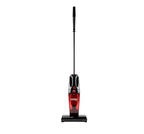 Eureka 2-in-1 Quick-up Bagless Stick Vacuum Cleaner Handheld Motorized Brush Roll, 169J3, Red - Quick Vac