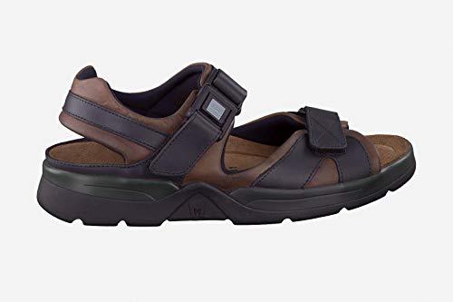 (Mephisto Men's Shark Sandals Dark Brown/Black Waxy Leather 8 M US)
