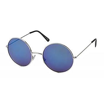 Sonnenbrille große Round Glasses John-Lennon-Style 400 UV Metall verspiegelt xHbyMX8