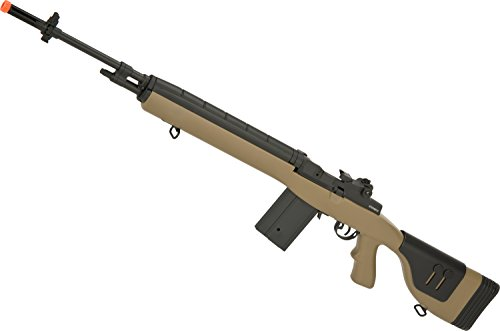 Evike - CYMA Full Size M14 Airsoft AEG with Polymer DMR Style Stock (Color: Tan/Gun Only)