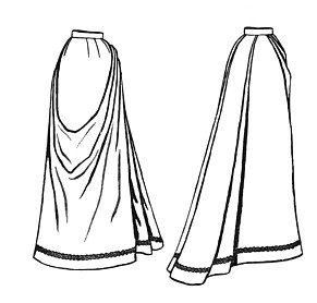 Victorian Skirts | Bustle, Walking, Edwardian Skirts  1891 French Fan Skirt Pattern                               $18.33 AT vintagedancer.com
