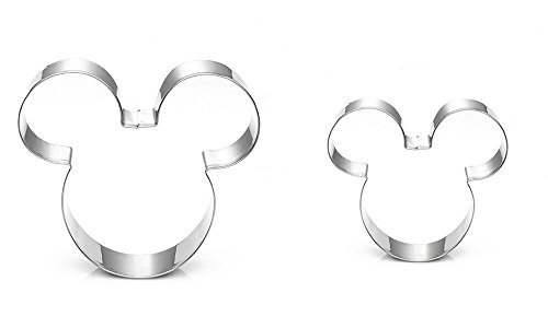 SUPPEAR Mouse Cookie Cutter - Food Grade Stainless Steel Cushioned Shape, Set of 2 -
