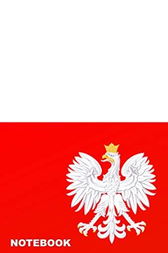 Notebook: Polish Flag Personalised Homework Book Notepad Notebook Composition and Journal Gratitude Diary por Retrosun Designs