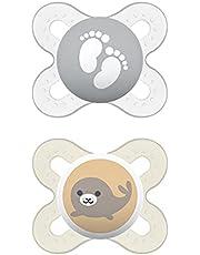 MAM Start Pacifiers Value Pack (2 pack, 1 Sterilizing Pacifier Case), Newborn Unisex Baby Pacifiers, Best Pacifier for Breastfed Babies, Sterilizing Baby Pacifier Case