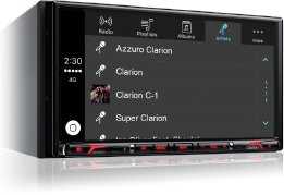 Clarion Corporation of America NX807 2-Din DVD Multi Media Station with Built-in Navigation & 6.95'' Touch Panel Control by Clarion Corporation of America (Image #5)