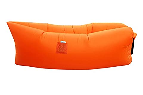 Kopaka Inflatable Floating Lounger Hammock with Carry Bag, Orange - Inflatable Jet Ski