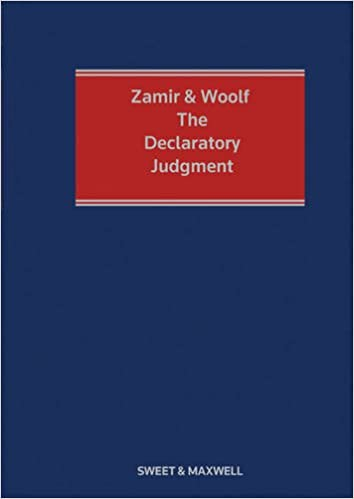 Zamir and Woolf - The Declaratory Judgment.: Jeremy Woolf ...