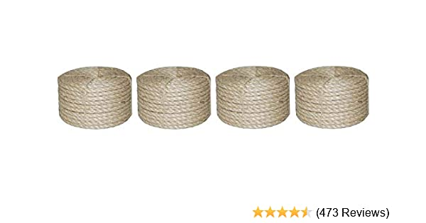 T W Evans Cordage 23-410 3/8-Inch by 100-Feet Twisted Sisal