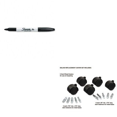 KITMAS23622SAN30001 - Value Kit - Master Caster Deluxe Casters (MAS23622) and Sharpie Permanent Marker (SAN30001)