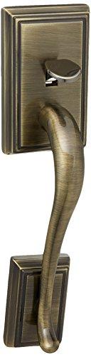 - Schlage F92-ADD Addison Dummy Exterior Handleset from The F-Series, Antique Brass