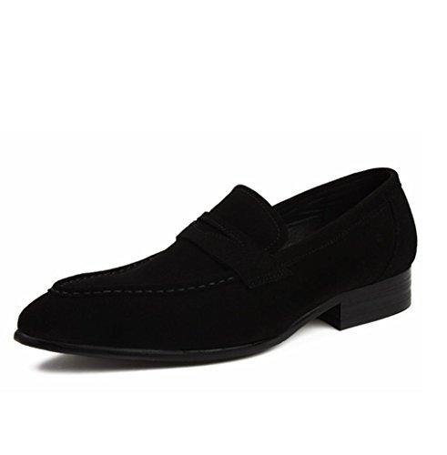 Heart&M negocios ocasionales de los hombres señalaron zapatos de cuero del dedo del pie helado ante Black