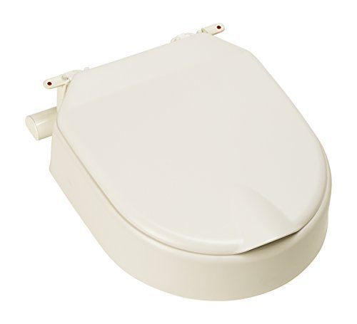 Etac Hi Loo 10 cm / 4 inch Fixed Raised Toilet Seat with Lid by Etac